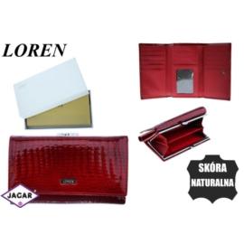 Portfel damski skórzany -14cmx9cm 55020-RS Red