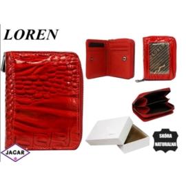 Portfel damski skórzany -10cmx8cm 5157-RN Red
