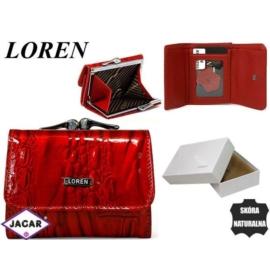 Portfel damski skórzany -10cmx7cm 55287-RN Red