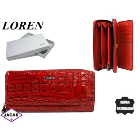 Portfel damski skórzany -19cmx9cm 73001-4-RN Red
