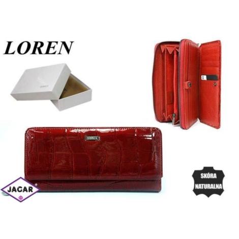 Portfel damski skórzany -19cmx9cm 73001-4-CB Red
