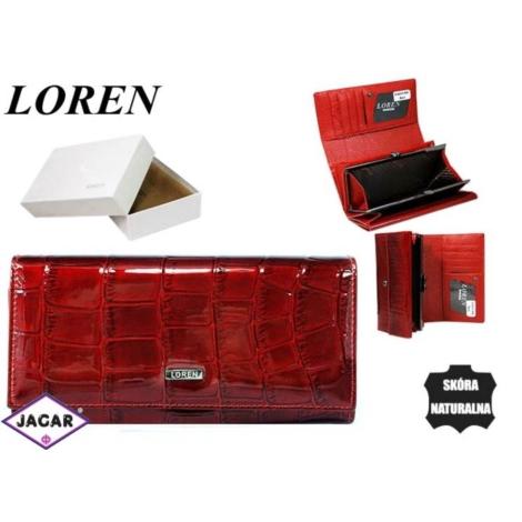 Portfel damski skórzany -16cmx9cm 64003-CB Red