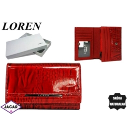Portfel damski skórzany -14cmx10cm JP-507-RN Red