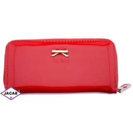 Portfel damski -czerwony lakier - 19cmx9cm P93