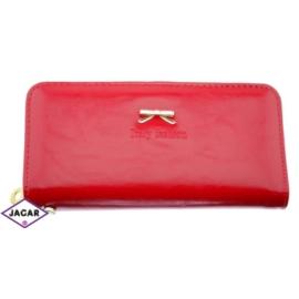 Portfel damski -czerwony mat- 21cmx10cm P96