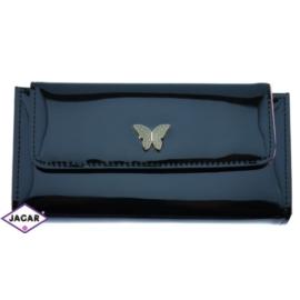 Portfel damski - czarny lakier - 19cmx10cm P100