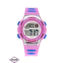Zegarek dziecięcy - różowy - szer: 4 cm Z136