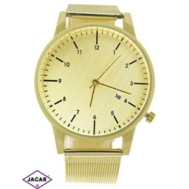 Zegarek damski - złoty - szer: 4,5 cm Z144