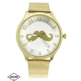 Zegarek damski - złoty - szer: 4 cm Z145