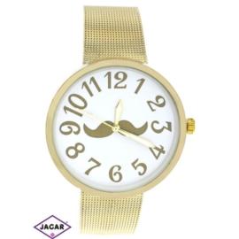 Zegarek damski - złoty - szer: 4 cm Z147