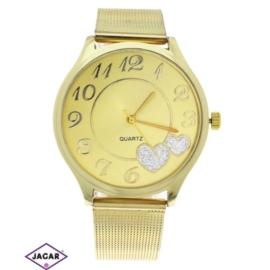 Zegarek damski - złoty - szer: 4 cm Z148