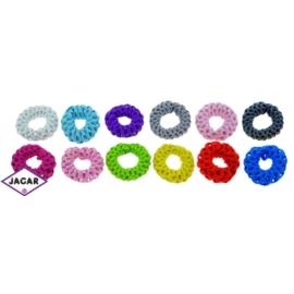 Kolorowe gumki do włosów - 24 szt/op - OG95