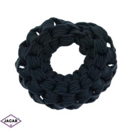 Czarne gumki do włosów - 24 szt/op - OG97