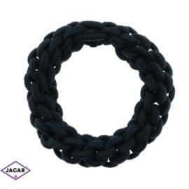 Czarne gumki do włosów - 24 szt/op - OG98