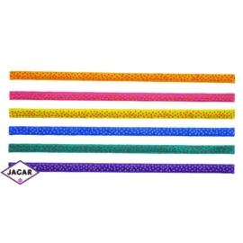 Kolorowe gumowe opaski do włosów - groszki - OPA61