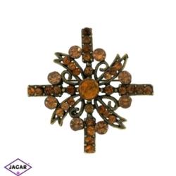 Broszka - kryształy - 4,5cm BR201