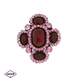 Broszka - kryształy - 5,5cm BR202