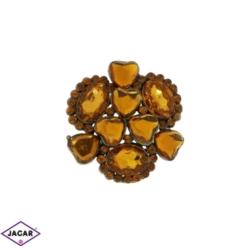 Broszka - kryształy - 4cm BR203
