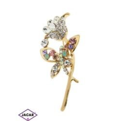 Broszka - kwiat i motyl - 5,5cm BR226