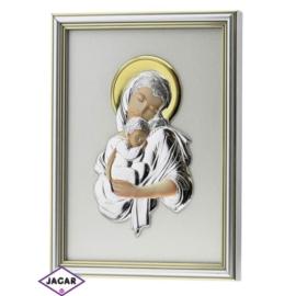 Święty Obrazek Posrebrzany 19cm x 24,5cm OBS27