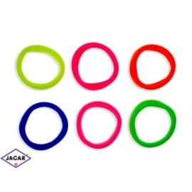 Kolorowe gumki do włosów - 72szt/op - OG107
