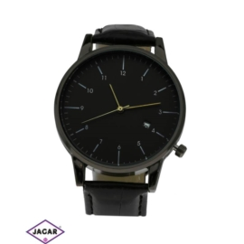 Zegarek męski - elegancka czerń - szer: 4cm - Z266