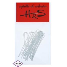 Szpilki do włosów - białe - 100szt dł. 5cm WS30