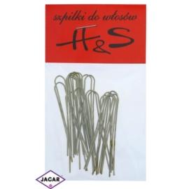 Szpilki do włosów - złote - 100szt dł. 5cm WS37