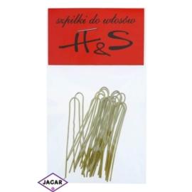Szpilki do włosów kremowe - 100szt dł. 5cm WS39