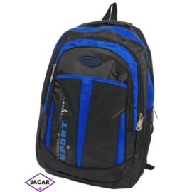 Plecak młodzieżowy - czarno-niebieski - PL02