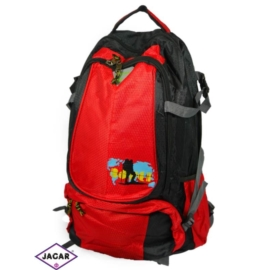 Plecak młodzieżowy - czarno-czerwony - PL06
