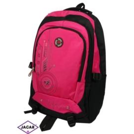 Plecak młodzieżowy - czarno-różowy - PL07