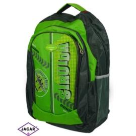 Plecak młodzieżowy - czarny-zielony - PL11