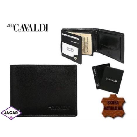 922b0a5d9349c Skórzany portfel męski - 4U Cavaldi - P164
