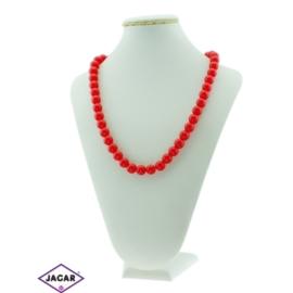 Czerwony naszyjnik - korale - 54 cm - NA512