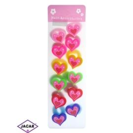Kolorowe gumki do włosów - 12 szt/op - OG119