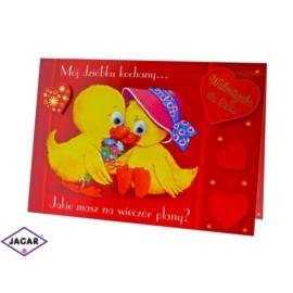 Kartka Walentynkowa - 17cm x 11,5cm - KAR01