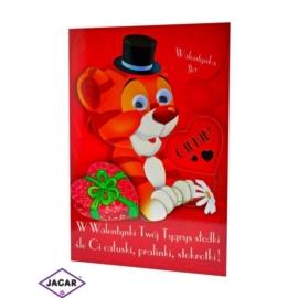 Kartka Walentynkowa - 17cm x 11,5cm - KAR02