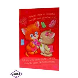 Kartka Walentynkowa - 17cm x 11,5cm - KAR04