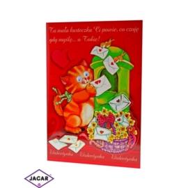 Kartka Walentynkowa - 17cm x 11,5cm - KAR05