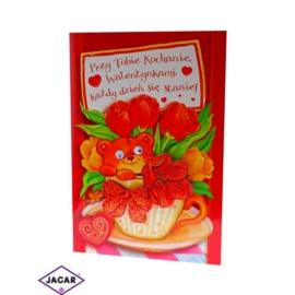 Kartka Walentynkowa - 17cm x 11,5cm - KAR06