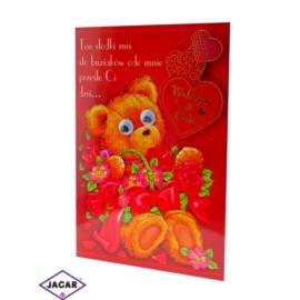 Kartka Walentynkowa - 17cm x 11,5cm - KAR07