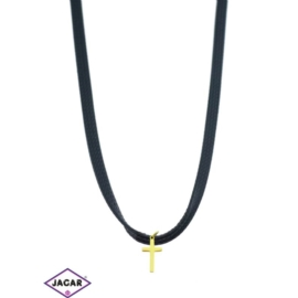 Choker - pozłacana przywieszka - 30cm - CHO75