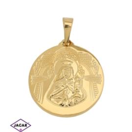 Przywieszka pozłacana - medalik - 2,5cm - PRZ512