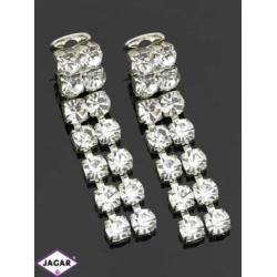 Klipsy ślubne czeskie - kryształy - 5,5cm SK70