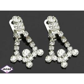 Klipsy ślubne czeskie - kryształy - 4cm SK73