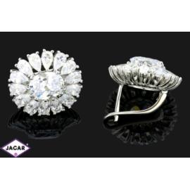 Kolczyki ślubne rodowane - kryształy - 1,8cm SK116
