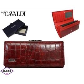 Portfel damski CAVALDI - GD24-FO-2 RED-CRO-M -P220