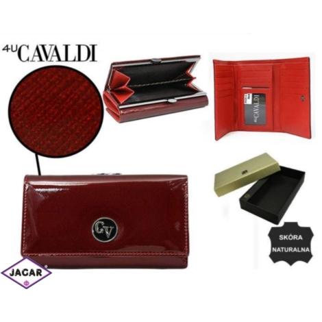 b7e32036c6a7e Portfel damski CAVALDI - H23-1-SAF RED - P233