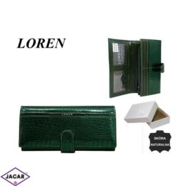 Portfel damski LOREN - skórzany - jp-515-rs - P281